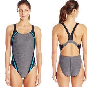 Speedo Heather Quantum Splice Swimsuit Athletic